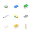 office icons set of different paper vector image vector image
