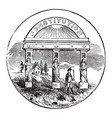 official seal us state georgia in vector image vector image