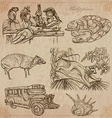 Philippines - An hand drawn pack vector image vector image