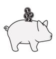 piggy moneybox icon vector image vector image