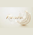 ramadan kareem islamic design crescent moon vector image