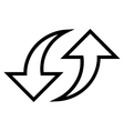 Replace Arrows Contour Icon vector image