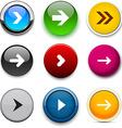 Round color arrow icons vector image vector image