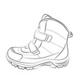 sketch of winter shoes vector image