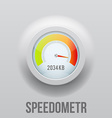 Speedometer realistic icon speed vector image vector image