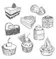 Sweet cakes set vector image vector image