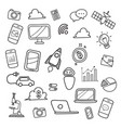 technology doodles hand drawn vector image vector image