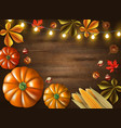 thanksgiving day colored frame vector image vector image