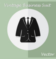 vintage business suit or tuxedo suit vector image vector image