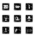 Witchery icons set grunge style vector image vector image