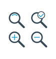 zoom two color icon set search magnifying glass vector image