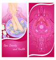 foot bath flyer vector image