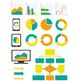 Business chart and info graph icons set vector image