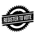 register to vote rubber stamp vector image
