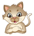 A smiling brown cat vector image