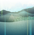 Abstract retro landscape with texture Mountain vector image