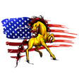 american horse flag logo vector image vector image