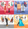 artist people concept icons set