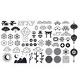 asian oriental elements japanese or chinese vector image