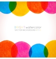 background with bright colorful watercolor painted vector image