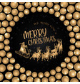 black merry christmas banner background vector image vector image