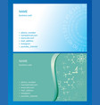 blue and green business cards - backgrounds vector image vector image