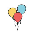 bunch balloons decoration party celebration vector image