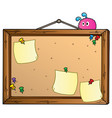 cartoon bulletin board vector image