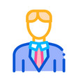 character bridegroom man silhouette icon vector image