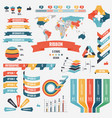 collection of infograph people elements for vector image vector image