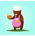 Cute cartoon Bear with Honey vector image