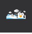 Cute Penguin Portrait vector image vector image