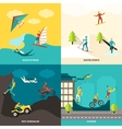 Extreme Sports Set vector image vector image