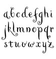 fairytale hand drawn alphabet vector image