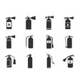 fire extinguisher icons set vector image
