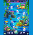 fish world vertical level seamless map field vector image vector image