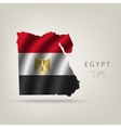 Flag of Egypt as a country vector image vector image