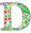 Floral D vector image vector image