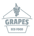 fresh grapes logo simple gray style vector image vector image