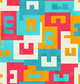 funky bright maze seamless pattern vector image vector image