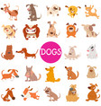 funny dog cartoon characters large set vector image vector image