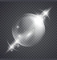 glass sphere of glowing lights effects vector image