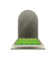 grave isolated vector image