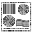 Grey Frame and Circles vector image vector image