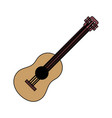 guitar instrument on white background vector image vector image