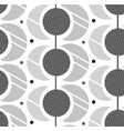 hand made sun and moon modern seamless vector image vector image