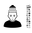 Head Shower Icon With Copter Tools Bonus vector image vector image