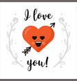 i love you heart emoticon isolated with vector image vector image