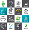 large set logos science vector image vector image