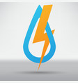 lightning arrow icon vector image